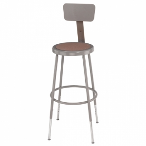 Adjustable Stool w/Backrest, 25